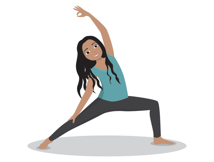 Illustration personnalisée yoga - Aurore Daviot