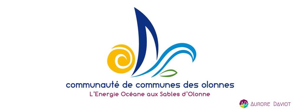 Création logo communauté de communes des Olonnes - Aurore Daviot