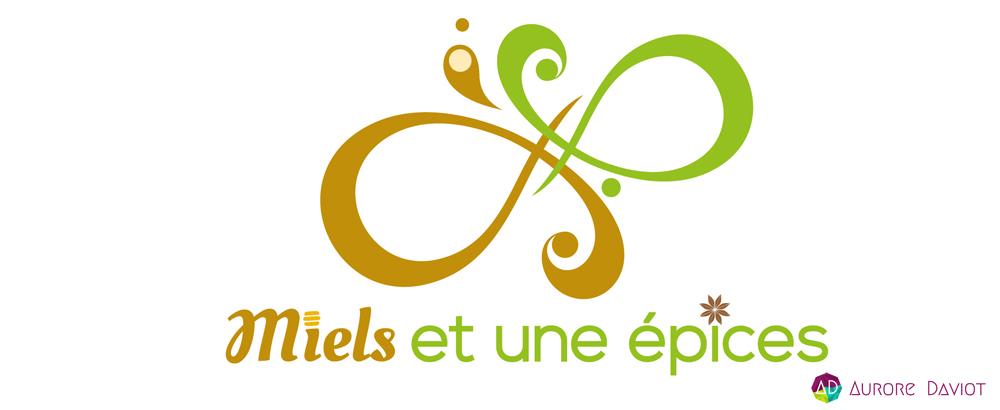 Création logo Miels et une épices- Aurore Daviot