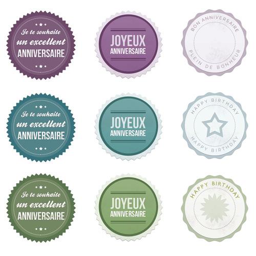 Etiquettes pour anniversaire - Aurore Daviot