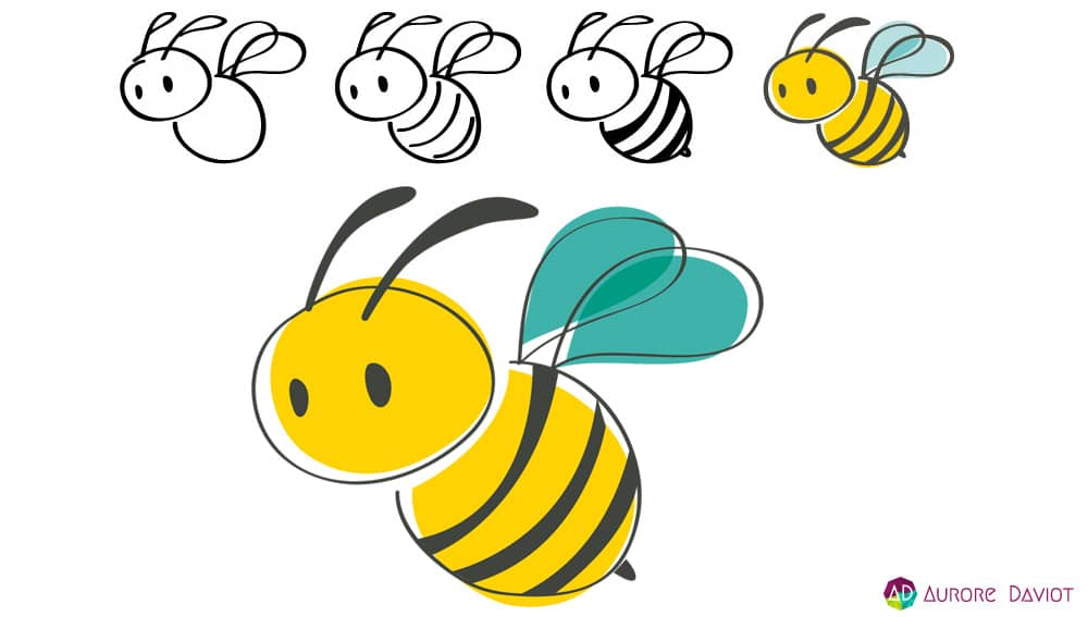 Illustration abeille festival de Butin'Art 2016 - Aurore Daviot
