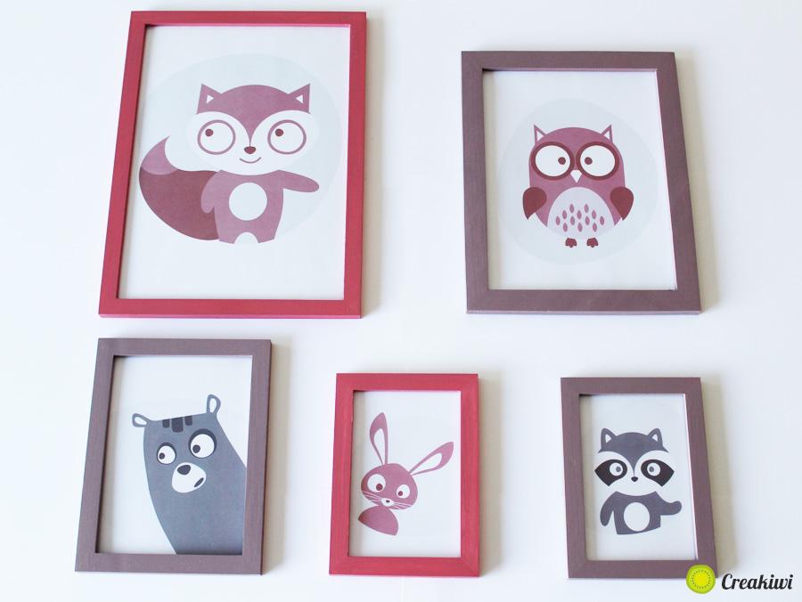 Illustrations pour la décoration de la chambre de bébé - Création Aurore Daviot