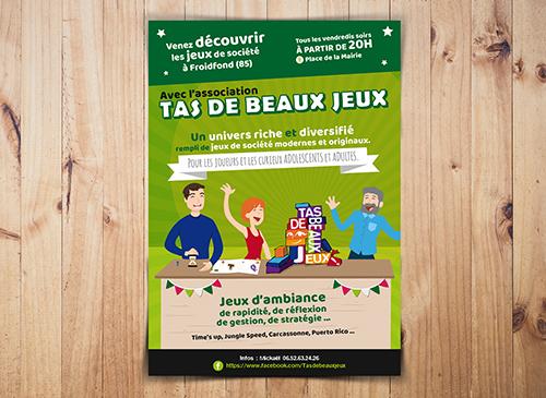Affiche Asso Jeux Froidfond 85 - Aurore Daviot