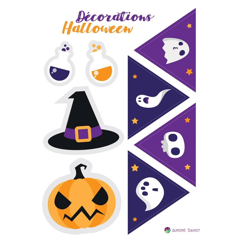 Fanions Décorations pour Halloween 2018