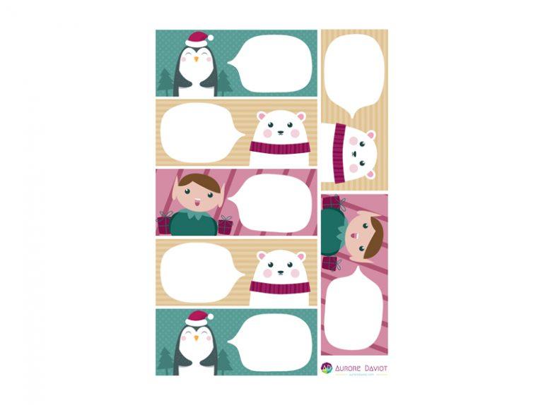 Etiquettes cadeau de Noël 2019