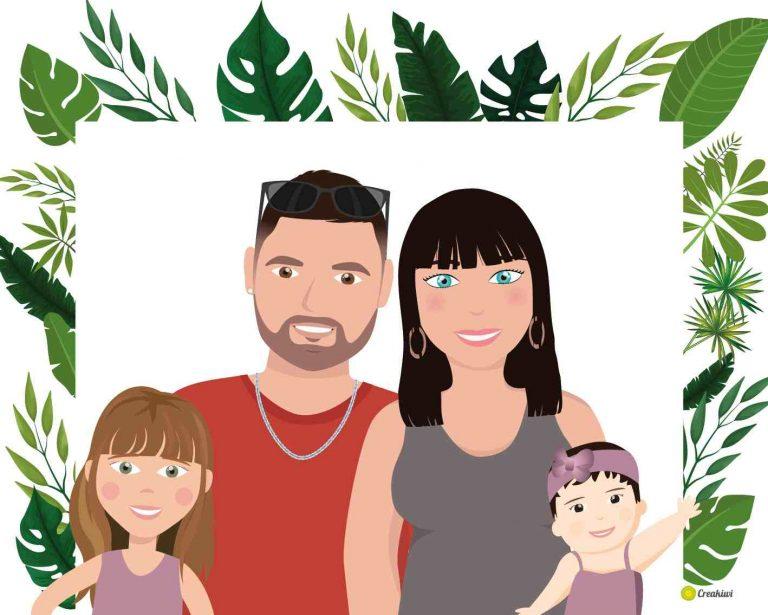 Portrait de famille illustrée - Malaurie
